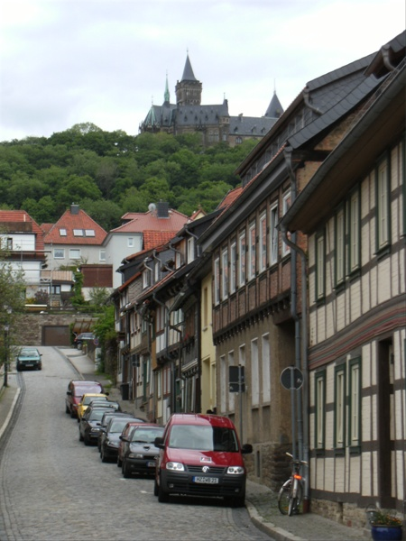 View towards Schloss Wernigerode